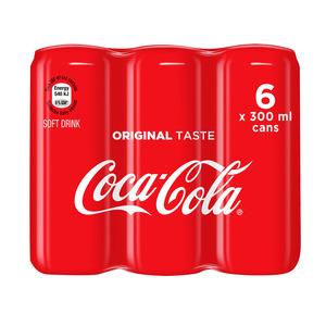 Coca-Cola Regular Can 300ml x 6