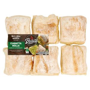 PnP Garlic & Parsley Ciabatta Roll 6s