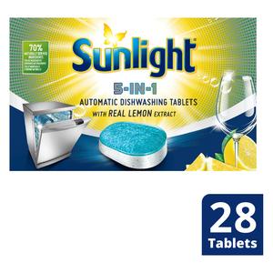Sunlight Dishwashing Tablet Regular 28ea