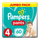 Pampers Baby-Dry Size 4 Jumbo Pack, 60 Nappy Pants