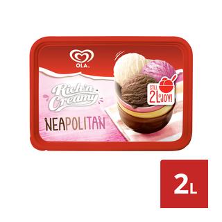 Ola Rich 'n Creamy Neapolitan Ice Cream 2l