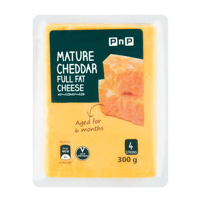 PnP 6 Months Mature Cheddar Cheese 300g   each   Unit of