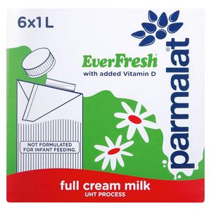 Everfresh Milk Full Cream Long Life 1l x 6
