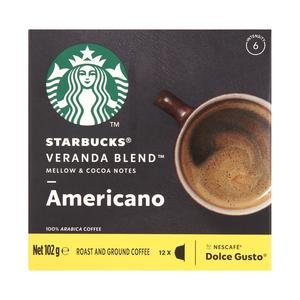 Starbucks® VERANDA BLEND by Nescafé® Dolce Gusto® Blonde Roast Coffee Capsules box of 12