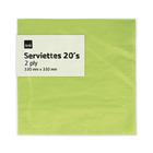 PnP 2ply Serviettes Lime 20ea