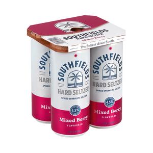 Southfields Hard Seltzer Berry Can 330ml x 4