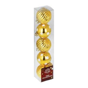 Santa's Village Ball Gold 60mmx5