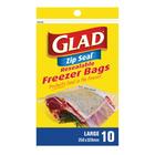 Glad Large Zipper Freezer Ba gs 10