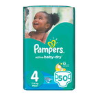 Pampers Active Baby Nappies Maxi 50s