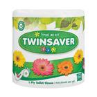 Twinsaver 1 Ply White Toilet Paper