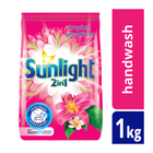 Sunlight 2in1 Freshness of Petals Handwash Washing Powder 1kg x 12