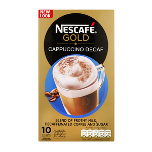 Nescafe Gold Decaf Cappuccino Sachets 10s