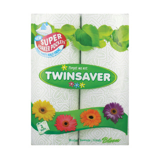 Twinsaver Roller Towel 2ply F/bloom 2ea