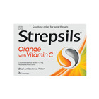 Strepsils Orange Vitamin C Lozenges 24ea