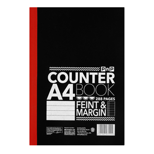 PnP A4 288 Page Counter  Book