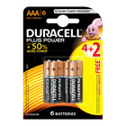 Duracell Alkaline Batteries Plus Power AAA 4+2