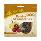 Safari Raisins & Cranberries Sundried 200g