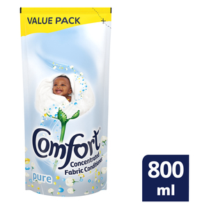 Comfort Pure Concentrated Fabric Conditioner Refill 800ml