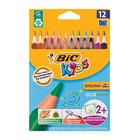 BIC Traingle Colour Pencils 12s