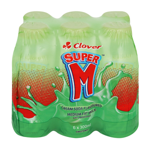 Super M Cream Soda Flavoured 300ml x 6