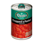 Rhodes Chopped & Peeled Tomatoes 410g
