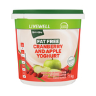 PnP Live Well Fat Free Cranberry & Apple Yoghurt 1kg