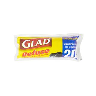 Glad Black Refuse Bags 20ea