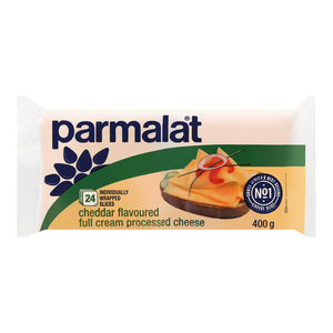 Parmalat Sliced Cheddar Flavoured Full Cream Processed Cheese 400g