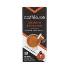 Caffeluxe Medium Roast Espresso Coffee Capsules 10s