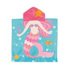 Real Home Mermaid Hooded Square Poncho