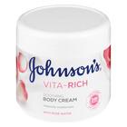 JOHNSON'S VIT/C BOD CRE SOOTH ROSE 350ML