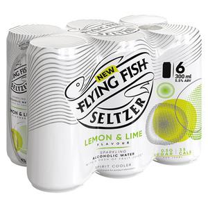 Flying Fish Hard Seltzer Lemon & Lime CAN 300ml x 6