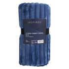 Inspired Ribbed Throw 150x180cm Blue