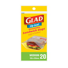 Glad Sandwich Zipper Bags 20