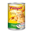 Purina Pamper Chicken Cuts in Gravy Tinned Cat Food 385g