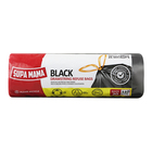 SUPA MAMA REFUSE BAG BLACK DRWSTRNG 20EA