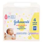 JOHNSON'S BABY EXTRA SENS WIPES 224EA