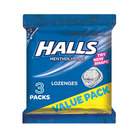 Halls Cough Drops Menth Eucalyptus 3ea