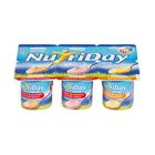 Danone Nutriday Smooth Strawberry, Granadilla & Apricot Yoghurt 6s