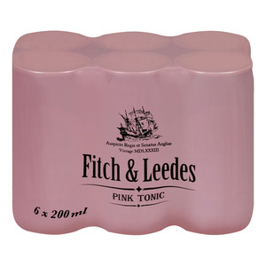 Fitch & Leedes Pink Tonic Can 200ml x 6