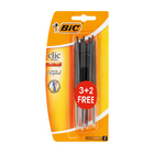 BIC Clic Medium Pen 3 + 2 Free Black
