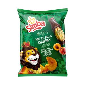 Simba Potato Chips Mrs H.S Ball's Chutney 120g