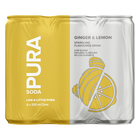 Pura Soda Ginger & Lemon 330ml x 6