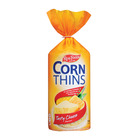 Real Foods Corn Thins Tasty Cheese 125g