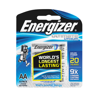 Energizer Lithium Aa Batteries 4 Pack