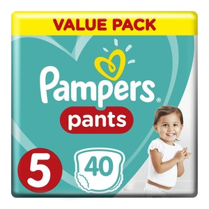 Pampers Baby-Dry Size 5 Value Pack, 40 Nappy Pants
