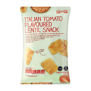 PNP LENTIL SNACK ITALIAN TOMATO 100GR