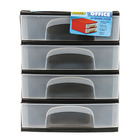 Addis A4 Black 4 Drawer Syst em