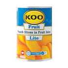 Koo Peach Slices In Fr/juice Lite 410gr