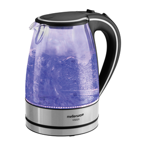 Mellerware Glass Kettle 1.7l Blue Light